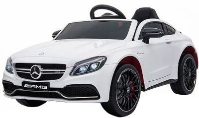 Accu Auto Mercedes C63s-AMG Wit 12V Rubber Banden