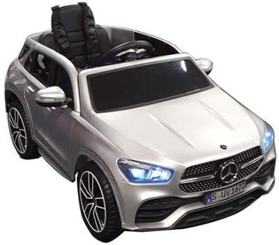 Kinder Accu Auto MERCEDES GLE 450 Zilver Grijs metallic Rubber Banden
