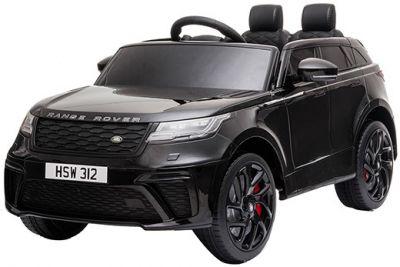 Accu Kinderauto Range Rover Velar Zwart Metallic 1-Pers 12V 2.4G Rubber Banden