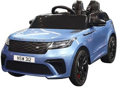Kinder Accu Auto Range Rover Velar Blauw Metallic 1-Pers 12V 2.4G Rubber Banden