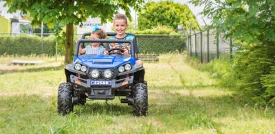 Accu Auto Cross Country XL 4X4  Blauw 2 Persoons Rubber Banden-6