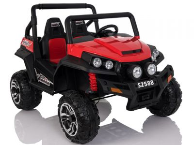 Accu Auto Cross Country XL 4X4  Rood 2 Persoons Rubber Banden
