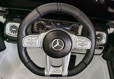 Accu Auto Mercedes G63 AMG Zwart metallic 12V 2,4G Rubber Banden-4