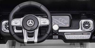Accu Auto MERCEDES G63-AMG 4X4 Zwart Metallic 2 Persoons Rubber Banden-3