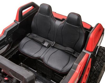 Accu Auto Monster Buggy 4X4 24V 2 Persoons Wit MP4 Rubber Banden-3