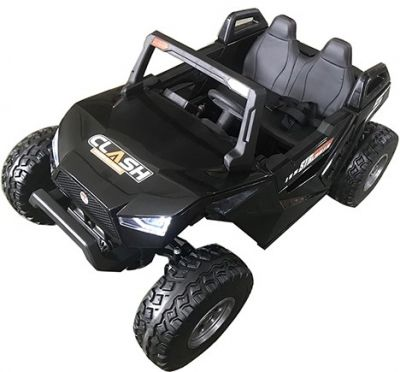 Accu Auto Monster Buggy 4X4 24V 2 Persoons Zwart MP4 Rubber Banden-2