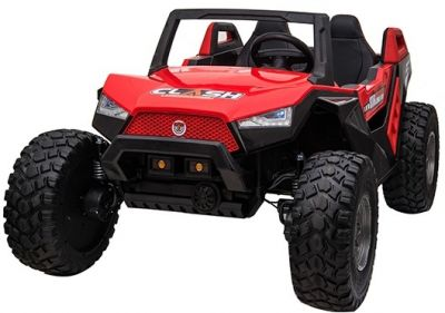 Accu Auto Monster Buggy 4X4 24V 2 Persoons Rood MP4 Rubber Banden