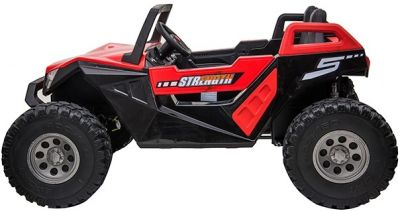 Accu Auto Monster Buggy 4X4 24V 2 Persoons Rood MP4 Rubber Banden-1
