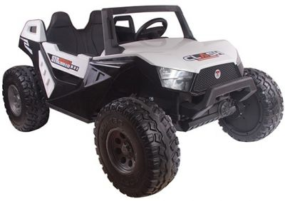 Accu Auto Monster Buggy 4X4 24V 2 Persoons Wit MP4 Rubber Banden