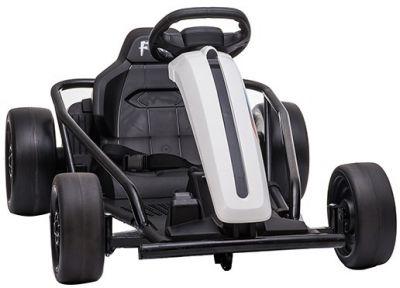 Accu Auto Drift Kart 24V Wit Rubber Banden