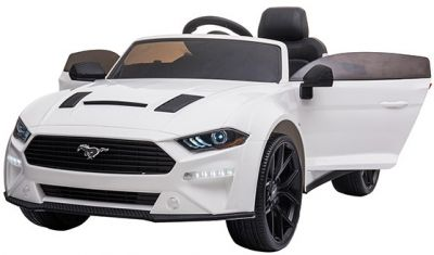 Accu Auto Ford Mustang 24V Wit 2,4G Mp4 Rubber Banden-3