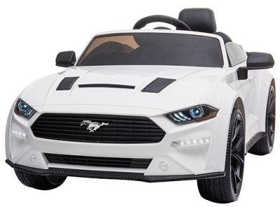 Accu Auto Ford Mustang 24V Wit 2,4G Mp4 Rubber Banden