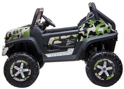 Accu Auto Mercedes Unimog 4X4 MP4-TV Camouflage 2 Persoons Rubber Banden-2