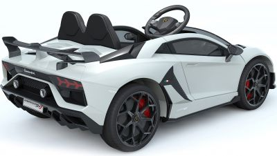 Accu Auto Lamborghini Aventador SVJ 12V Wit 2,4G Lederen Stoel -3