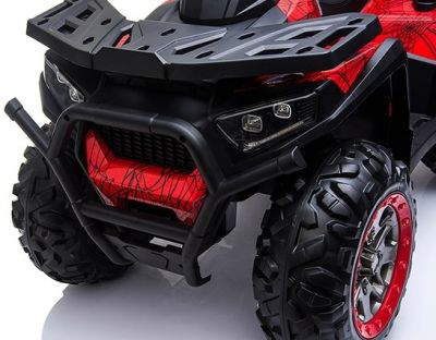 Accu Quad Mamba RED-SPIDER 12V Leder 2,4G Afst. Bed. Rubber Banden-4