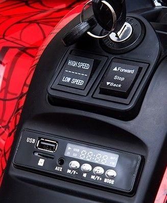 Accu Quad Mamba Zwart 12V Leder 2,4G Afst. Bed. Rubber Banden-1