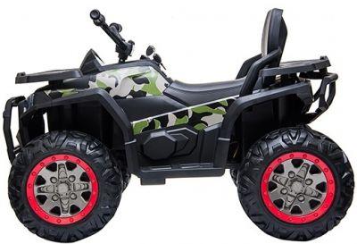 Accu Quad Mamba Camo-Groen 12V Leder rubber banden 2,4G Afst. Bed.-1