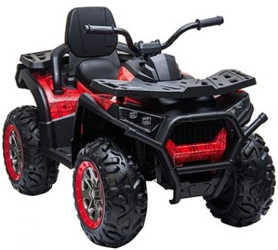 Accu Quad Mamba RED-SPIDER 12V Leder 2,4G Afst. Bed. Rubber Banden