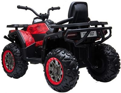 Accu Quad Mamba RED-SPIDER 12V Leder 2,4G Afst. Bed. Rubber Banden-2