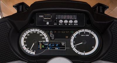 Accu Motor HP45 Zwart 12V 2 persoons Rubber Banden Lederen zitting -4