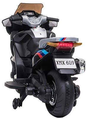 Accu Motor HP45 Zwart 12V 2 persoons Rubber Banden Lederen zitting -1