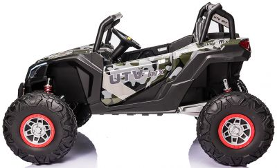 Accu Auto Mega Buggy 4X4 24V 2 Persoons Camouflage MP4 Rubber Banden-2