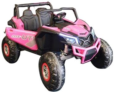 Accu Auto Mega Buggy 4X4 24V 2 Persoons Roze MP4 Rubber Band