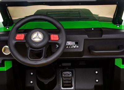 Accu Auto Truggy XL 4X6 Groen-Geel 12V 2-persoons Rubber Banden-3