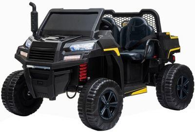 Accu Auto Truggy 4X4 Zwart 12V 2-persoons Rubber Banden