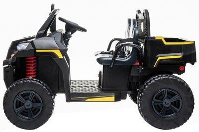 Accu Auto Truggy 4X4 Zwart 12V 2-persoons Rubber Banden-1