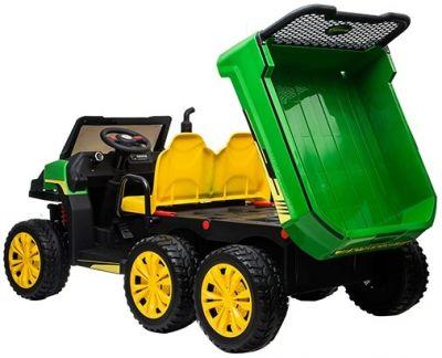 Accu Auto Truggy XL 4X6 Groen-Geel 12V 2-persoons Rubber Banden-5