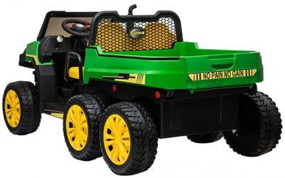 Accu Auto Truggy XL 4X6 Groen-Geel 12V 2-persoons Rubber Banden-2