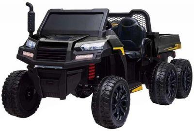 Accu Auto Truggy XL 4X6 Zwart 12V 2-persoons Rubber Banden